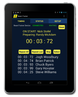 Sports timing application