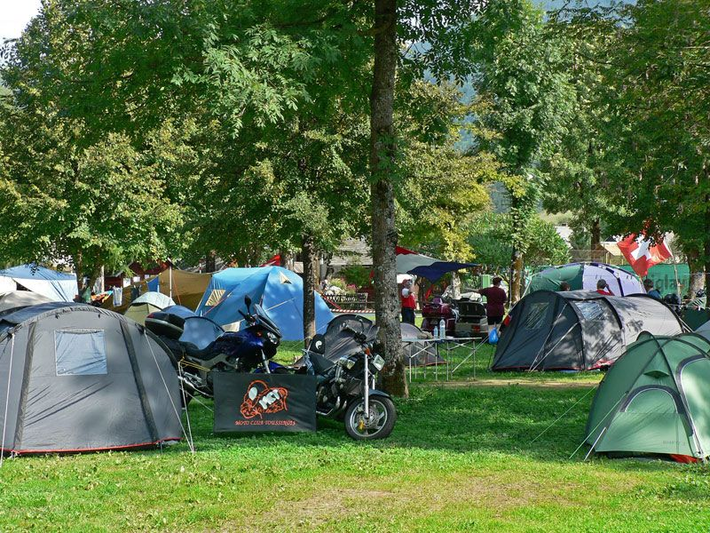Camping near lake