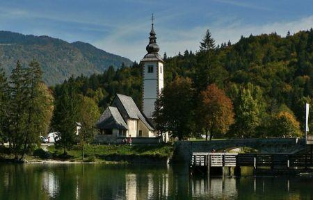 Lake Bohinj church