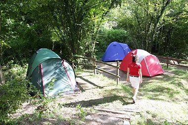 Tent camping in Kobarid