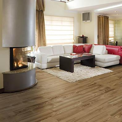 Dark wood parquet floorings