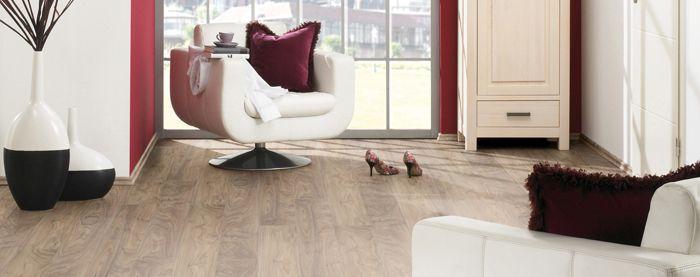 Putting down laminate wood flooring