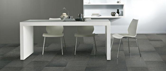 Water resistant laminate flooring in kitchen