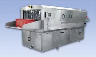 portable or static bin washer machine