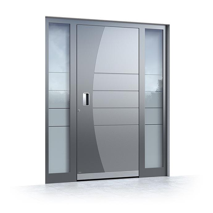 Aluminium modern entrance doors Pirnar