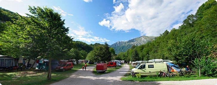 Eco camping sites Kobarid