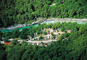 Eco camping Soca river valley