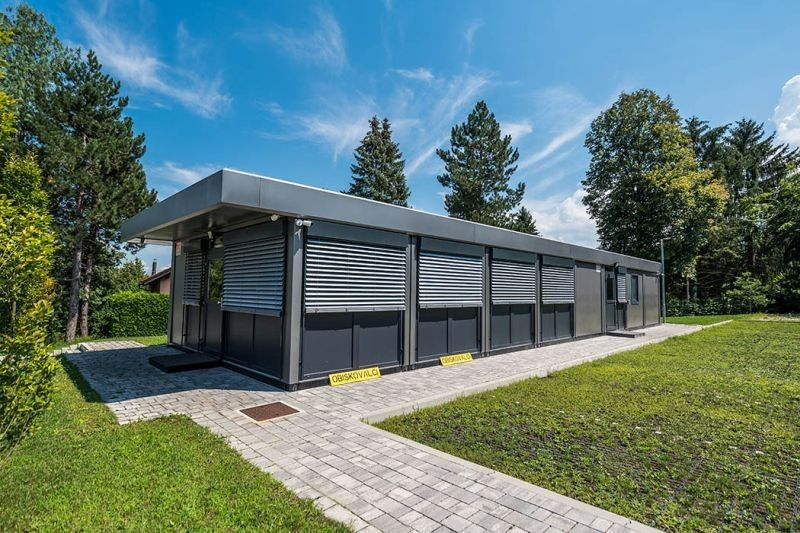 Prefabricated modular office buildings