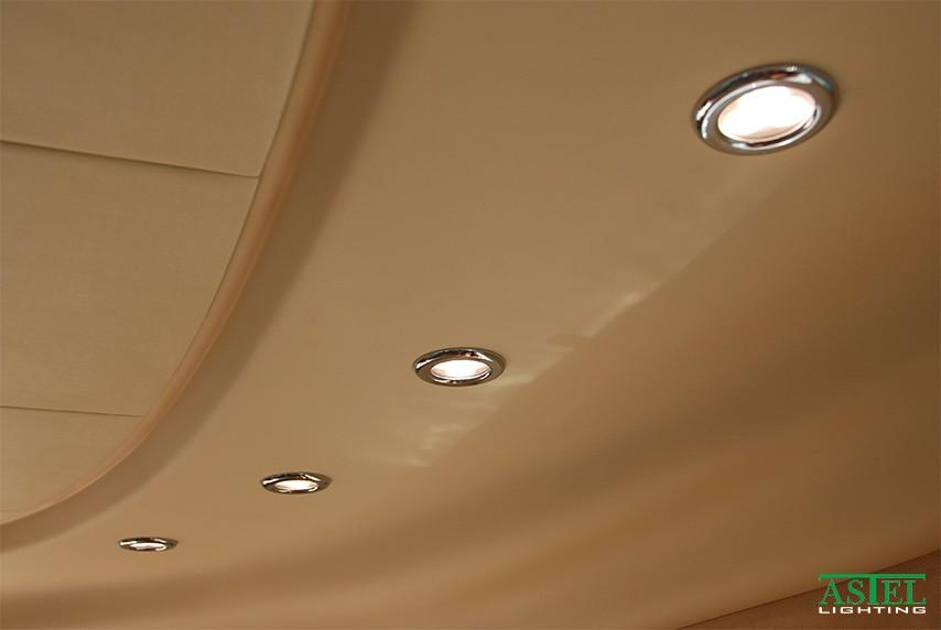 Mini white recessed LED downlights