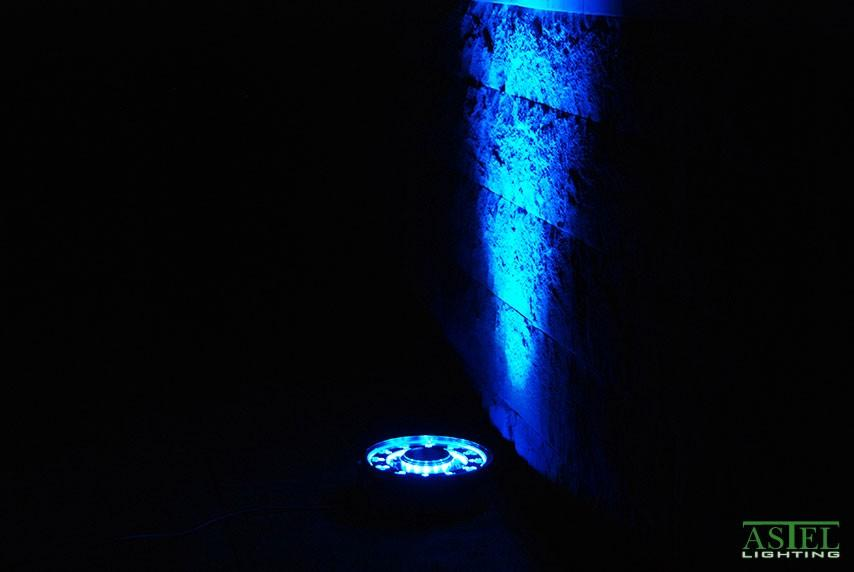 Garden water fountain LED lights