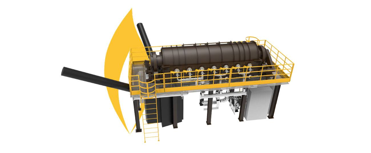 Continuous industrial oven above 1000˚C