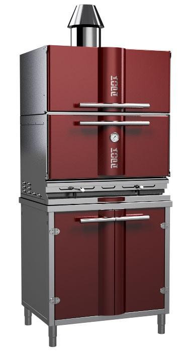 Stainless steel charcoal grill oven