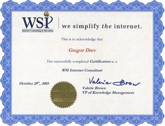 WSI Certificate